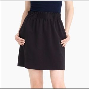 J. Crew Sidewalk skirt NWT Black